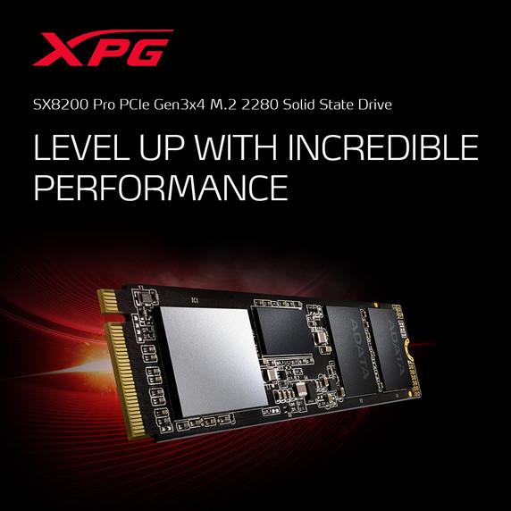 XPG SX8200 Pro Series: 2TB Internal Solid State Drive PCIe Gen3x4 M.2 2280 (SM2262EN Controller Version)
