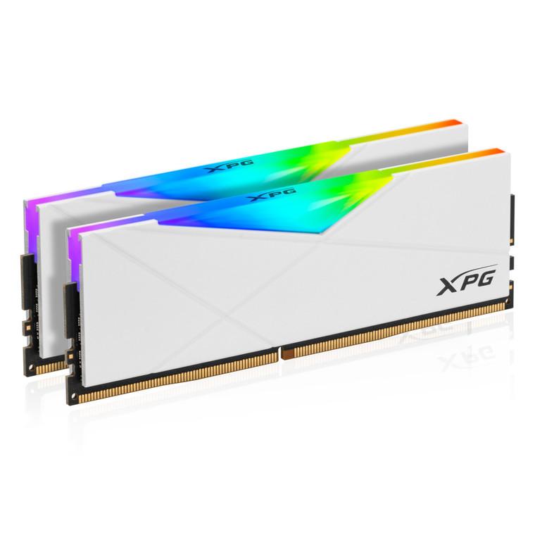 XPG SPECTRIX D50 RGB Desktop Memory 32GB (2x16GB) DDR4 3200MHz CL16 White