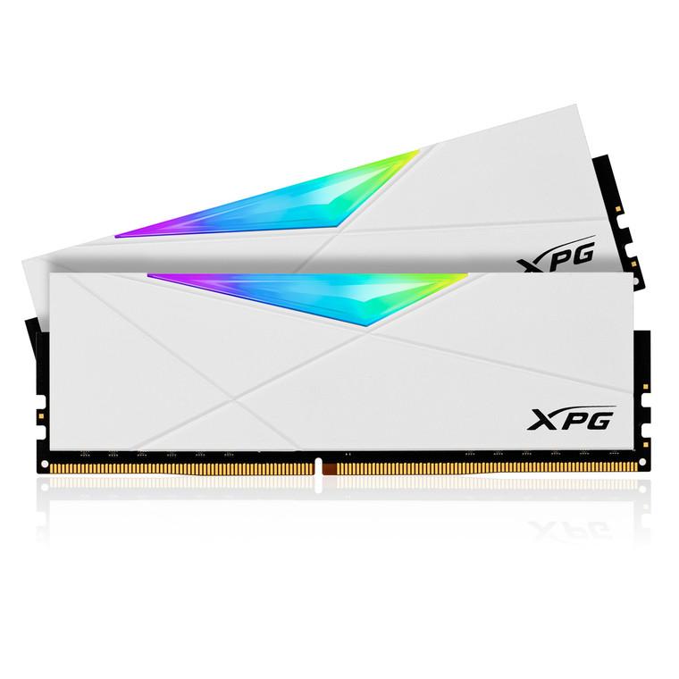 XPG SPECTRIX D50 RGB Desktop Memory: 16GB (2x8GB) DDR4 4133MHz CL19 White