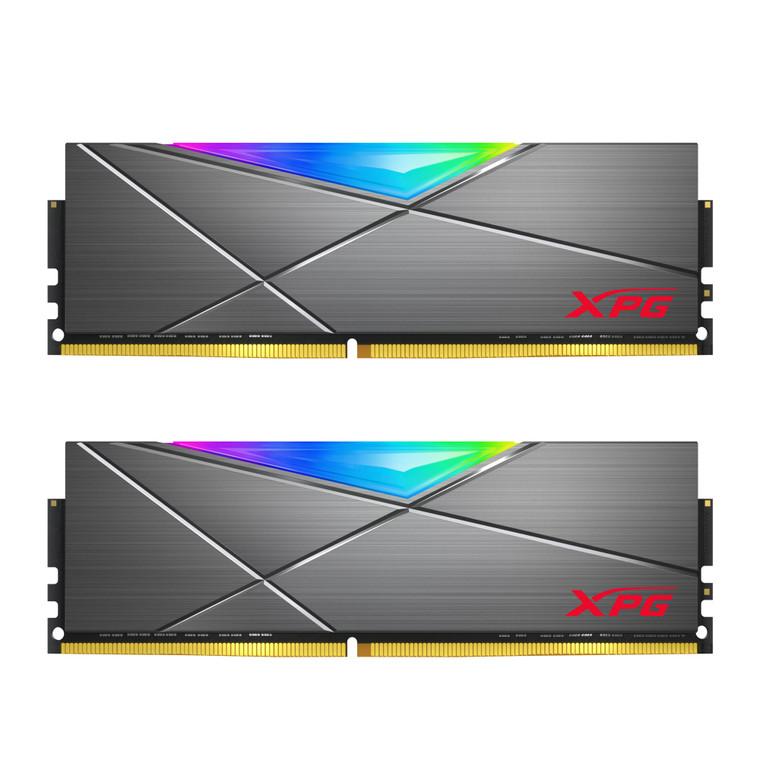 XPG SPECTRIX D50 RGB Desktop Memory: 32GB (2x16GB) DDR4 3600MHz CL18 GREY