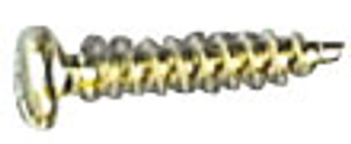 Pan Head Sheet Metal Screw, 8 x 1/4 in.