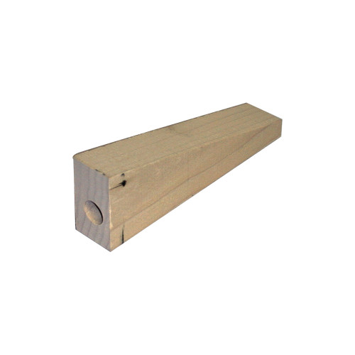 CO2 Dragster Pre-Drilled Wood Blank, 8 in. Long