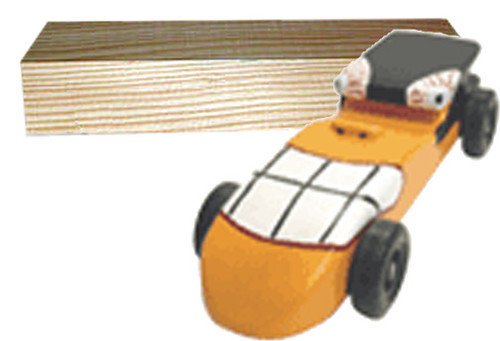 KELVIN® Downhill Racer™ Car Kit with Pine Blank