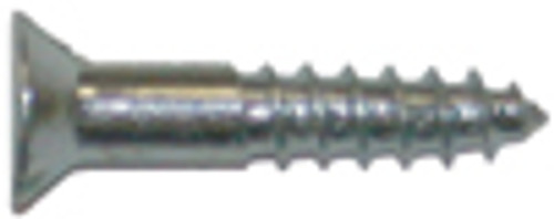 Flat Head Wood Screw, #4 x 1 in.