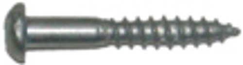 Round Head Wood Screw, #4 x 1 in.
