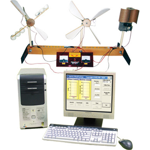 Explore Wind Farm Technology Lab with PC, LCD Screen and more!