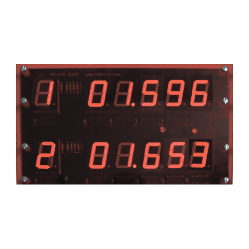 KELVIN® Multi-Lane Timer 2-Lane Display