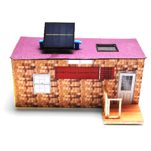 20 ft. Model shipping container shown with optional solar electric add-on.