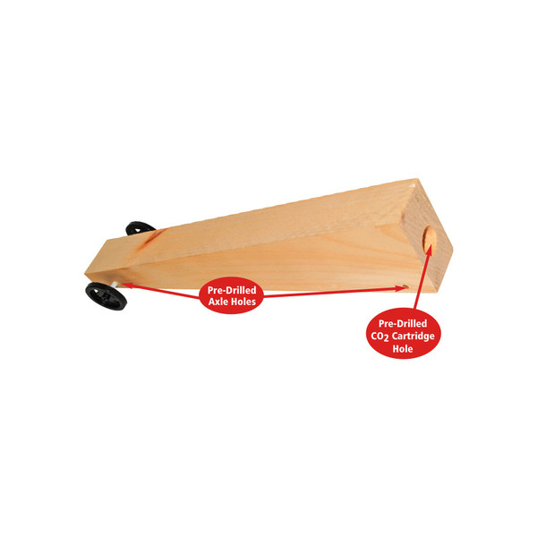 KELVIN® CO2 Dragster Kits with Pre-Drilled Blanks