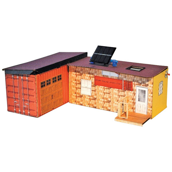 KELVIN® Shipping Container House, 20 in. = 40 ft. Model Scale