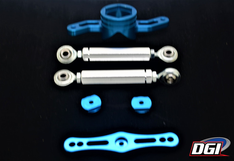 losi 5t 5ive double steering blue