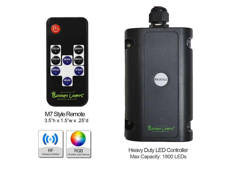 Multi-Function RF Wireless LED Controller with M7 Style Remote