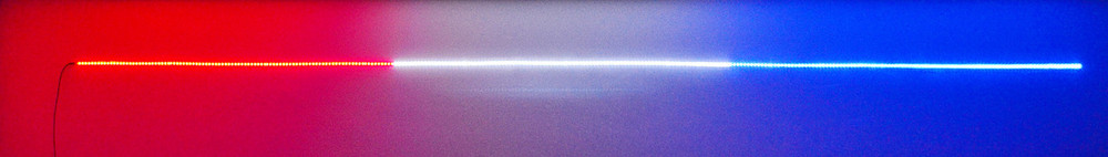 Red White Blue Hi-Intensity LED Strip with 15' Power Lead