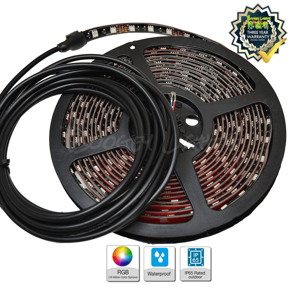 ADD-ON LED Strip with power lead and wiring kit.  Available in BLACK or WHITE PCB in lengths of 4', 8', 12' and 16'.  Power lead lengths are 10', 15' (16' PCB only), 25' and 50'.