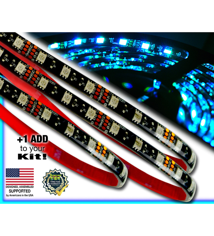 Golf Cart Add-On LED Strips (Multi-Color)