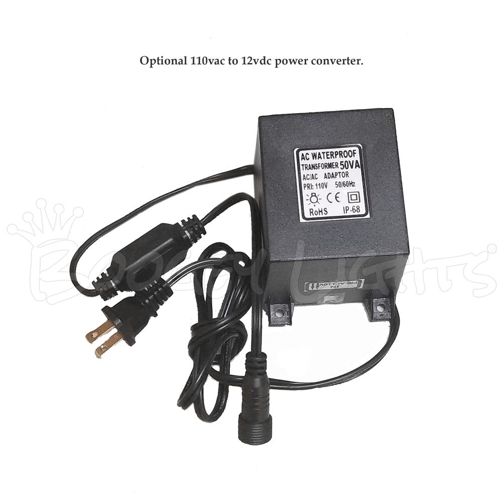Optional 110vac to 12vdc power converter