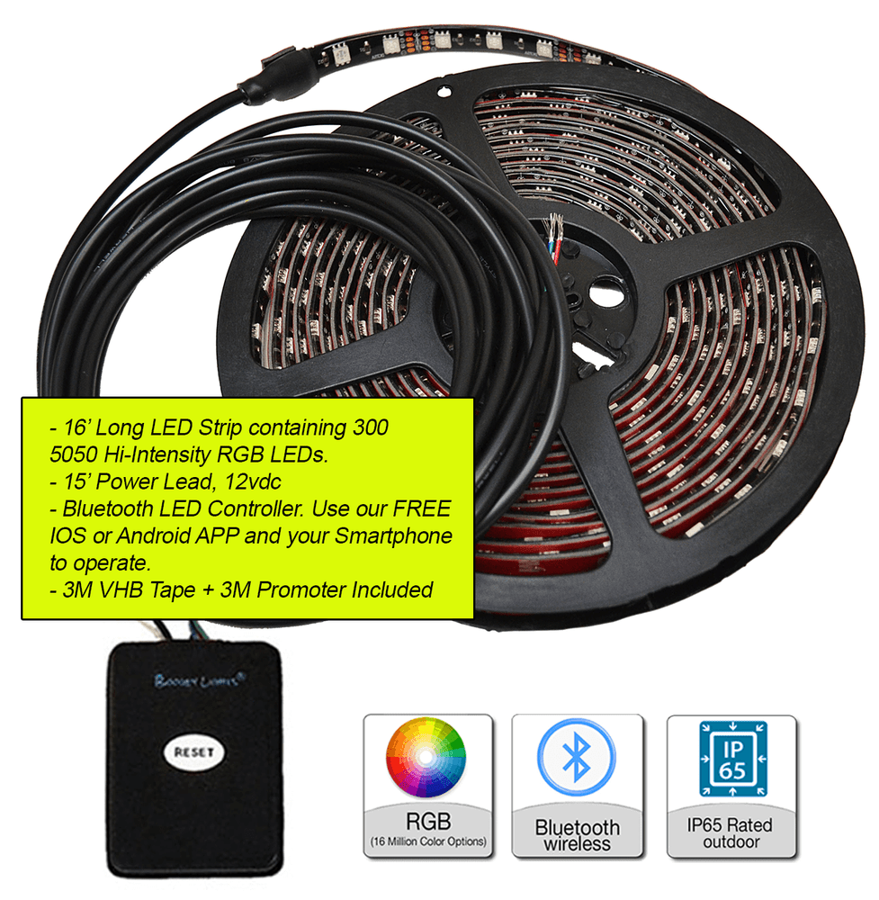 ECONO-LINE Multi-Color LED Awning Light Kit - Bluetooth Only