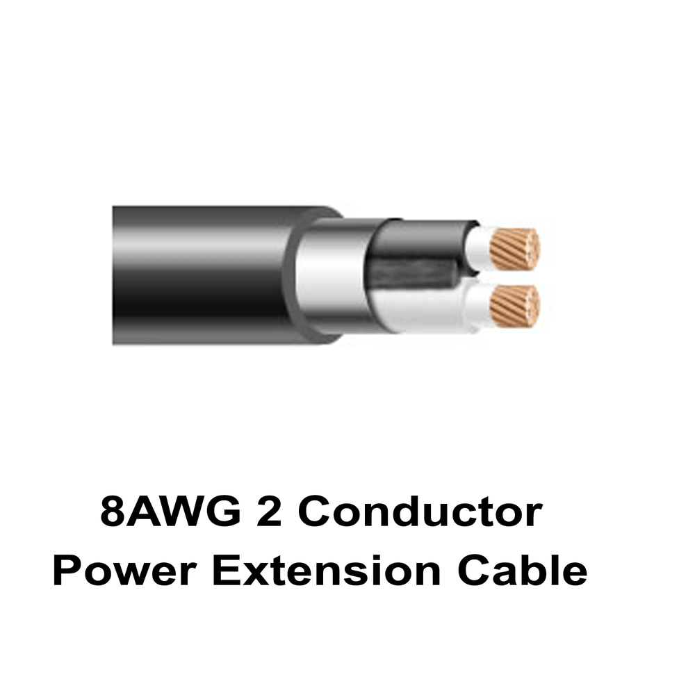 8AWG 2 Conductor Power Extension Cable