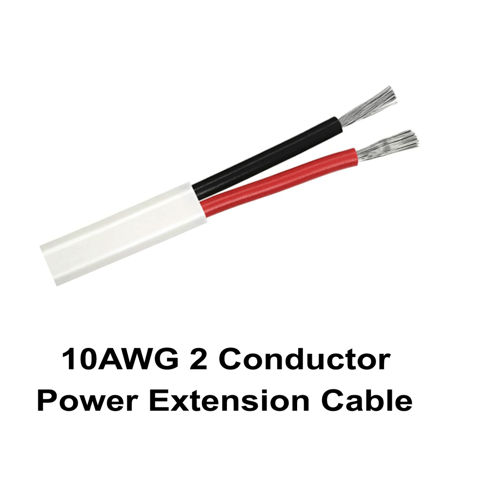 10AWG 2 Conductor Power Extension Cable
