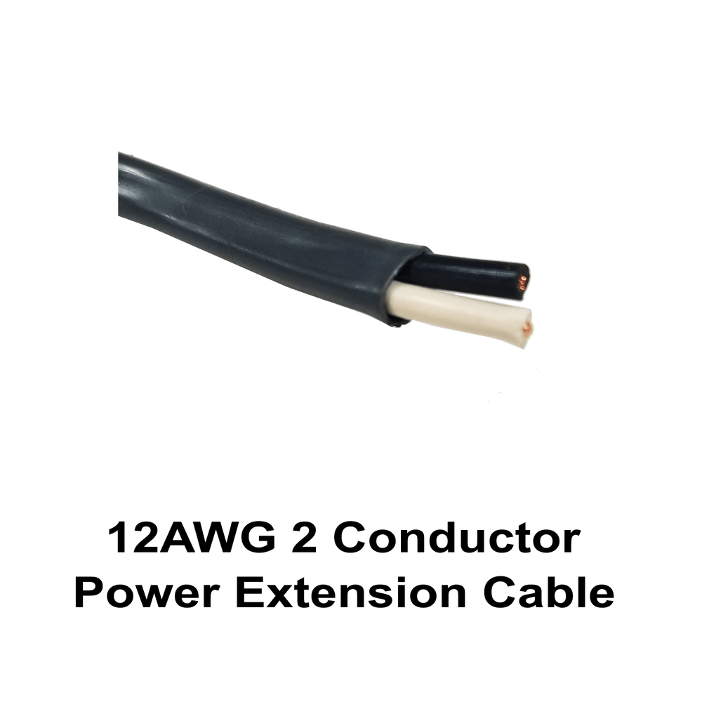 12AWG 2 Conductor Power Extension Cable