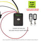 RGB LED Controller with wireless RF KEY FOB remote and Brake Flash