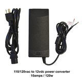10AMP.  120w. 110/120 vac to 12vdc power converter.