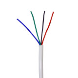 20 AWG 4 Conductor Power Lead Wire in WHITE Jacket.