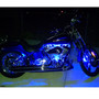 Blue Value Series lights on the engine, blue MEGA sticks on the front wheel and inside the rear fender.