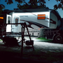 Multi-Color LED Awning Light for RVs, Trailers and Campers.  Shown here with the Under-Glow light kit.