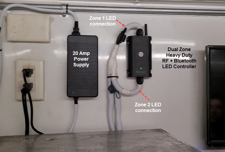 Boogey Lights Food Trailer Light Kit Configuration