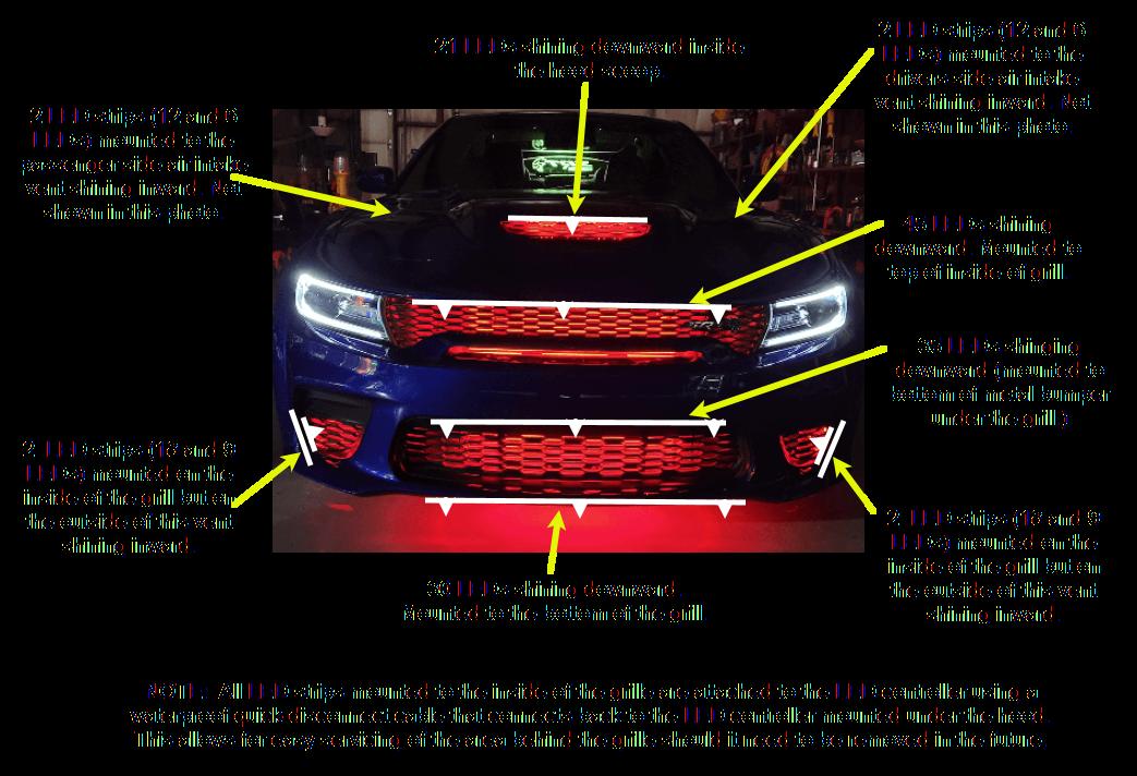 Boogey Lights Dodge Hellcat LED Litht Kit