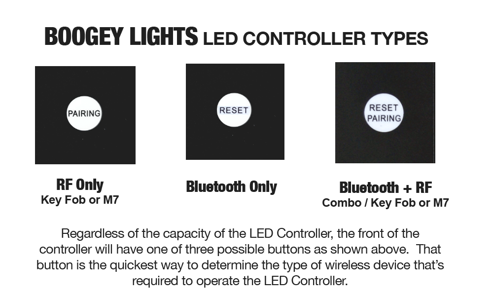 Boogey Lights Controller Types