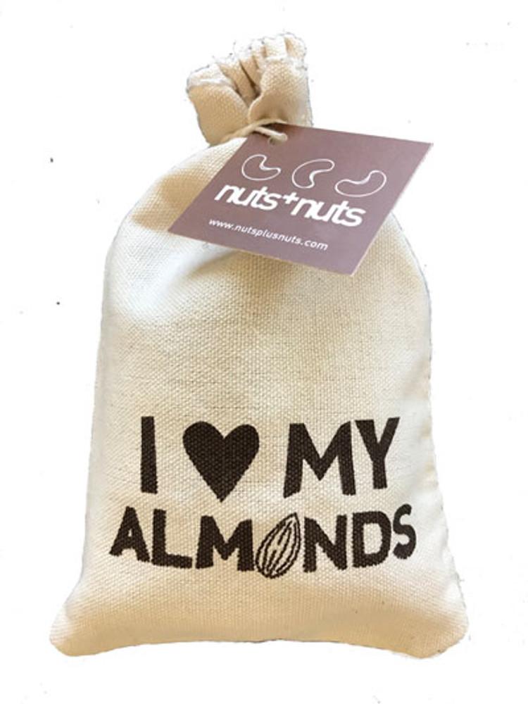 I love my almonds bag