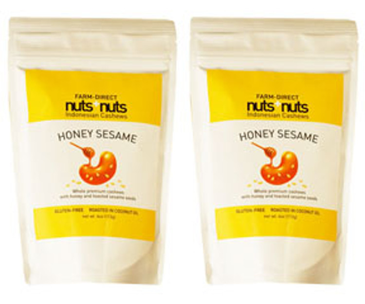 Honey roasted cashews flavored nuts