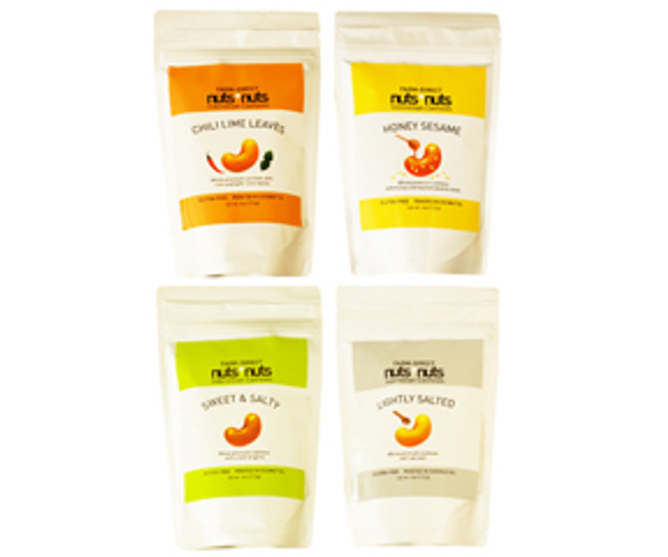 Variety flavored cashew snack gift 4 oz