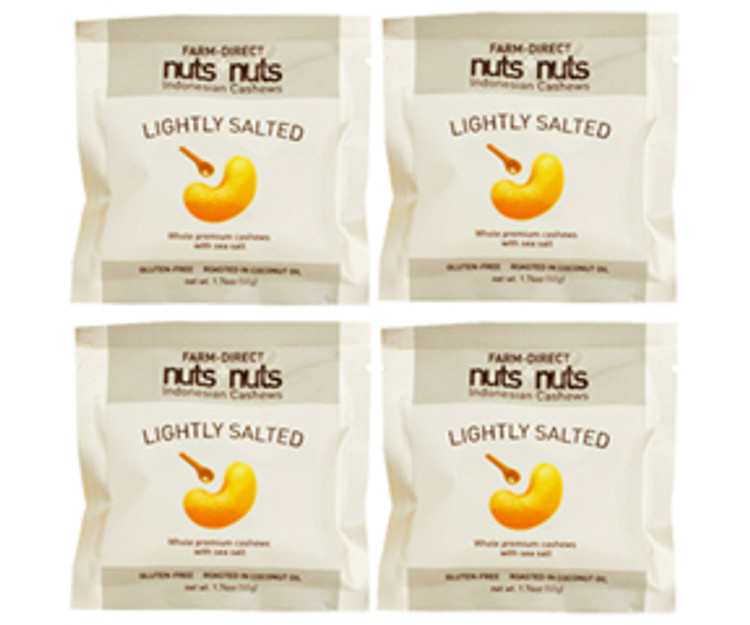 Roasted lightly salted gourmet cashew snack