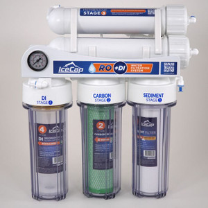 IceCap 4-Stage Reverse Osmosis Water Filtration Systems 75 GPD