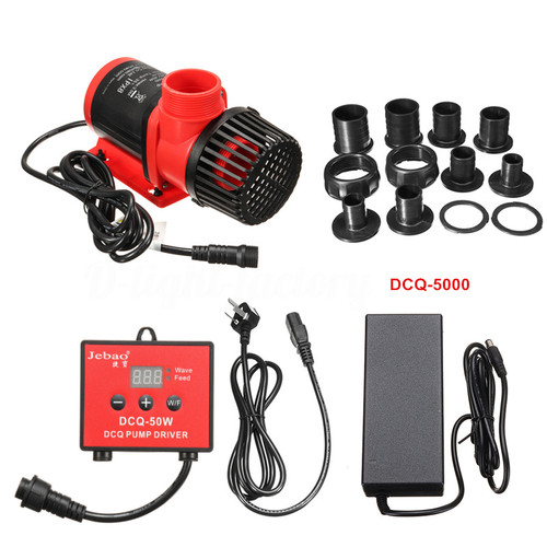 Jebao DCQ-6000 45watt (Submersible only)Pump w/ Controller, 1664gph