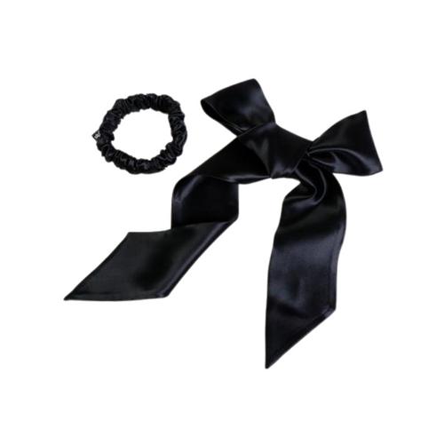 Slip Ribbon & Midi Set Black
