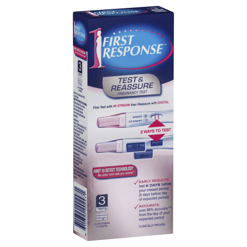 First Response Test & Reassure Pregnancy Test 3 Pack