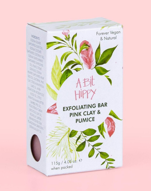 A Bit Hippy Exfoliating Bar Pink Clay Pumice 115g