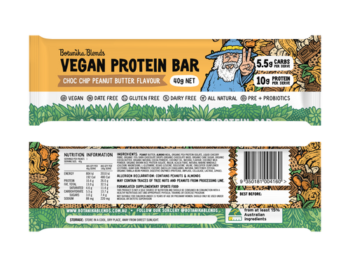 Botanika Bars Choc Chip Peanut Butter Bar 40g