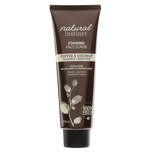 Natural Instinct Coffee & Coconut Foaming Face Scrub 125ml