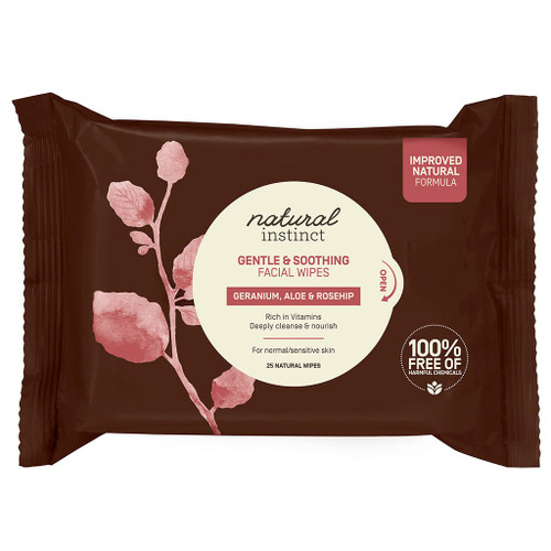 Natural Instinct Gentle & Soothing Facial Wipes x25wipes