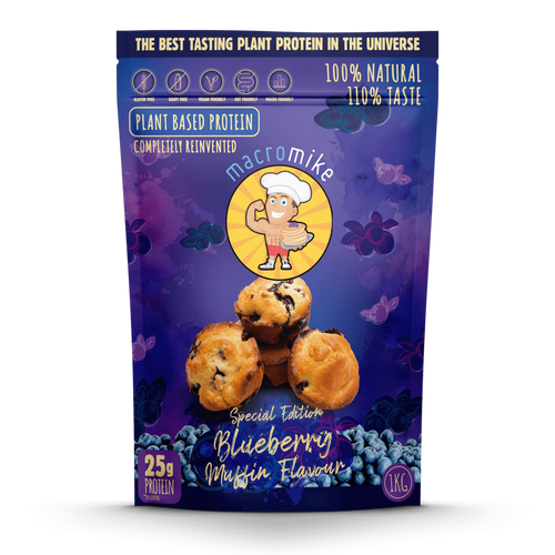 Macro Mike Blueberry Muffin Flavour Plant Based Protein 1kg Bag
