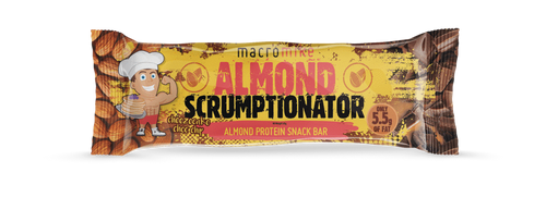Macro Mike Almond Scrumptionator Protein Bars Box of 12 x 45g bar