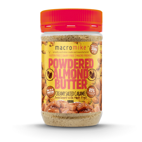 Macro Mike Salted Caramel Powdered Almond Butter 180g Jar