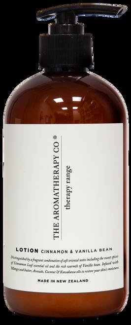 The Aromatherapy Co Cinnamon & Vanilla Bean Hand & Body Lotion 500ml
