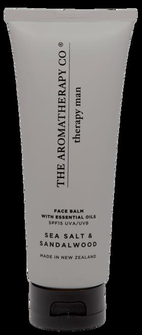 The Aromatherapy Co Sandalwood & Sea Salt Man Face Balm 100ml