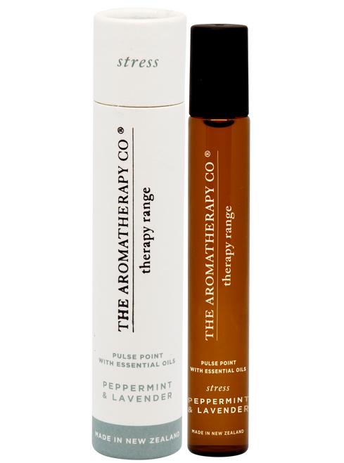 The Aromatherapy Co Stress Peppermint & Lavender Pulse Point 15ml